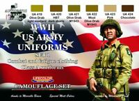 LifeColor WWII US Army Uniforms 1 (22ml x 6)