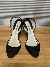 Brian Atwood Black Suede Shoes 36.5 6.5