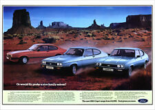 FORD CAPRI 2.8 INJECTION 2.0S & 1.6LS RETRO A3 POSTER PRINT FROM CLASSIC ADVERT
