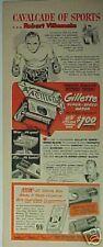 1950 Robert Villemain Boxer/Boxing Memorabilia Gillette Razor Promo Print Ad