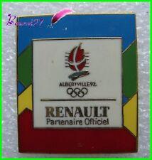 Pin's Jo Jeux Olympique Albertville RENAULT Partenaire Officiel #B4