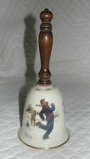 """Vintage Norman Rockwell """"GAY BLADES"""" Fine China Christmas Bell by Gorham 1978'"""