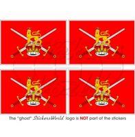 """BRITISH ARMY Flag UK Vinyl Bumper-Helmet Stickers - Decals 50mm (2"""") x4"""