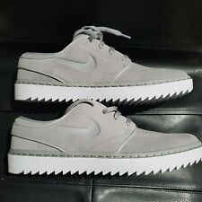Nike SB Stefan Janoski  Spikeless Mens Golf Shoes Grey White Suede Size 9.5