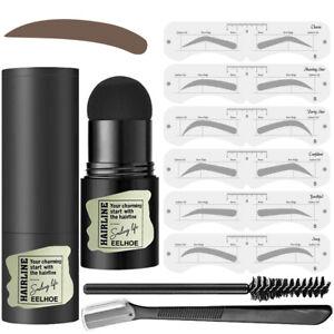 One Step Eyebrow Stamp Hairline Stamp with Eyebrow Stencils Razor Brush