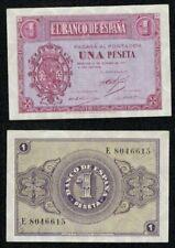 1 peseta año 1937 serie E nº 8046615 Escudo de Casa de Borbón. SIN CIRCULAR.