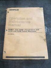 CAT 322B L/325B L Excavator 322B/325B Forest Machine Operation Manual SEBU6939-3
