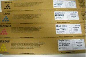 4 Original Toner RICOH Aficio MP C4503 C5503 C6003 C6003E / 841853 841854-841856