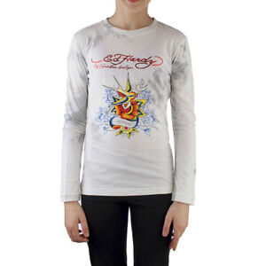 Ed Hardy Toddlers Girls Long Sleeve T-Shirt - Off White