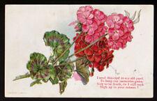 FLOWER Greetings Friendship 1922 Postcard PC