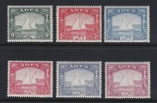 Aden 1937 selection of 6 x values - fresh lightly mounted mint £65