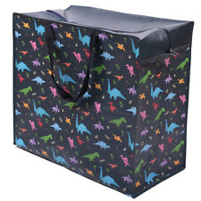 Dinosaur Design Storage Laundry Bag Large Jumbo Zipped Shopping Bag Travel Home