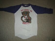 E.T. Want to Party (Coors beer) Very odd rare 3/4 sleeve VINTAGE T-shirt