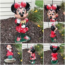 """Minnie Mouse Concrete 22""""Garden Statue Shabby Paint Vintage disney Lawn Ornament"""