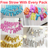 Giant Self Inflating Happy Birthday Banner Balloon Bunting Multi Colour baloons