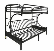 Free Shipping - Futon Bunk Bed Twin Over Full Metal Kids Bedroom Couch Dorm