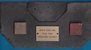 Original White Star Line OLYMPIC TITANIC GREEN TILE Haltwistle Paint Factory