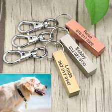 Personalized Name Tags for Dogs Custom Engraved Pet ID Number Stainless Steel