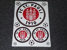 ORIGINAL FC St.PAULI , AUFKLEBER 3er SET witterungsbeständig , MERCHANDISE