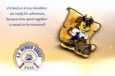 Disney Cruise Line 2005 Disney Vacation Club Member Cruise Pirate Mickey Pin