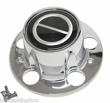 New BRONCO II RANGER EXPLORER Wheel Hub Chrome w/ black logo Center Cap & Screws