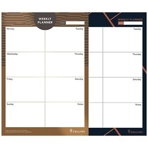 A4 Collins Weekly Desk Pad Planner Contains 60 Sheets - Weekly View