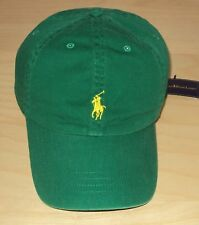 NWT POLO RALPH LAUREN MENS CLASSIC BASEBALL CAP HAT LEATHER STRAP GREEN 474dfd87bbd