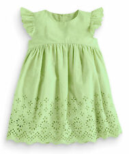 ВNWT NEXT Girls Party Outfit • Green Embroidered Dress • 100% cotton • 12-18 Mon