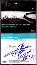 Grigory SOKOLOV Signiert BACH Die Kunst der Fuge & Partita No.2 Art of Fugue 2CD