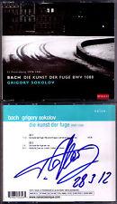 Grigory Sokolov signée Bach L'art de la fugue & Partita no. 2 Art Of Fugue 2cd