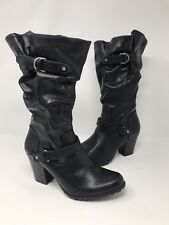 New! Women's Apt.9 Blanche High Heel Slouch Boots - Black M51