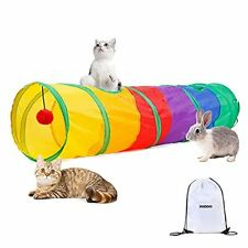 New listing Paopo Cat Tunnels for Indoor Cats with Fun Ball Cat Toy Interactive Peek Hole.