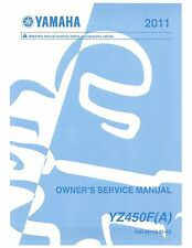 Yamaha service workshop manual 2011 YZ450F (A)
