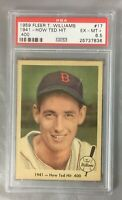 TED 1959 FLEER 17 HIT 400 WILLIAMS RED SOX 1941 BASEBALL BOSTON HOF PSA 6.5