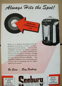 Seeburg 1-46 Symphonla phonographs 1946 Ad- Always Hits The Spot