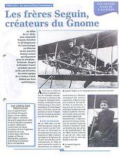WWI Les Frères Seguin Augustin ,Louis & Laurent Moteur Gnome Omega FRANCE FICHE