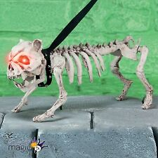 Perro ladrando De Pie Esqueleto Fantasma Con Luz Ojos Halloween Decoración Utilería