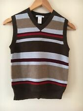 Boys Janie & Jack Size 8 striped Sweater Vest NWT New Holidays Pictures brown