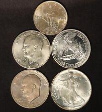 Silver Bullion Variety Lot- '95 ASE, Prospector, '71 and '72 Ikes & 1964 Nevada