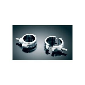Kuryakyn 2-Piece Chrome Fork Clamps 54-58MM Inverted Forks (Pair) 2275