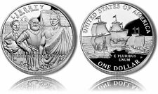 2007 JAMESTOWN $5 Commemorative SILVER Coin BU PROOF