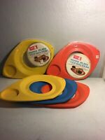B2 Vintage Mid Century Wilpak Plastic Paper Plate & Cup Holders Tray Funky Gift