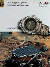Z96 Pubblicità Advertising 1999 Omega Speedmaster professional X-33