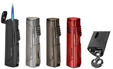 "Vertigo ""Javelin"" Black Butane Cigar Lighter, Torch Flame, Cigar Punch"