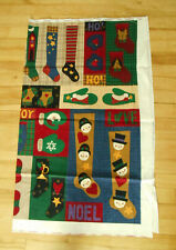 Dreamspinners Fabric Panel Mittens & Stockings Make Ornament Stocking Uncut New