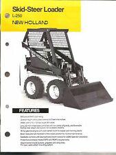 1987 NEW HOLLAND TRACTOR L 250 SKID STEER LOADER SALES BROCHURE