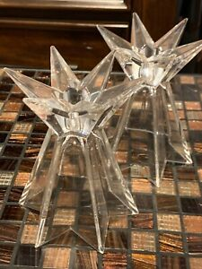 mikasa star crystal candle holders