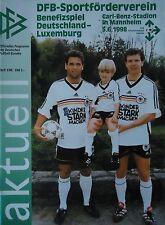 Programm LS 5.6.1998 Deutschland - Luxemburg in Mannheim