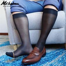 Nuevo diseño 1 Pair Mens Negro Con Azul o Amarillo círculo transparente Informal Vestido Calcetines