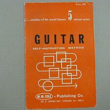 guitar SELF INSTRUCTION METHOD M.M. Cole, 5 minute series, 1953
